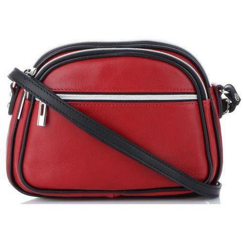 842d23f9a532f Torebki Damskie Skórzane Uniwersalne Listonoszki do noszenia na co dzień  marki Genuine Leather Czerwone (kolory