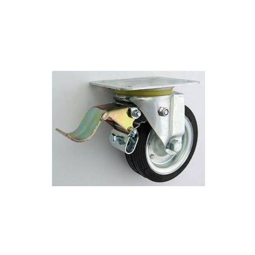 Zabi Koło metalowo-gumowe w obudowie skrętnej z hamulcem fi 140