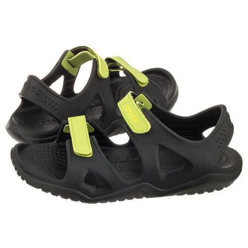 Crocs Sandałki swiftwater river sandal k black/volt green 204988-09w (cr150-c)