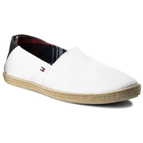Espadryle TOMMY HILFIGER - Easy Summer Slip On FM0FM00569 White 100, kolor biały