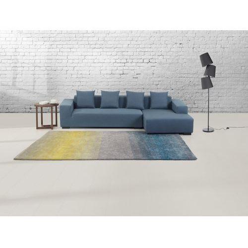 Dywan szaro-niebiesko-żółty - 160x230 cm - Shaggy - poliester - DINAR z kategorii Dywany