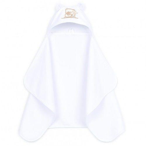 Białe okrycie kąpielowe ręcznik z kapturkiem 70x120, OK MT 2942