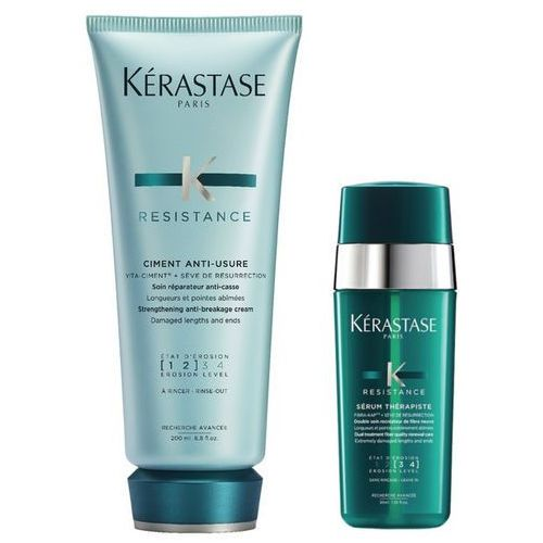 Kerastase ciment anti-usure and therapiste | zestaw odbudowujący włosy: cement 200ml + serum do zniszczonych końcówek 30ml