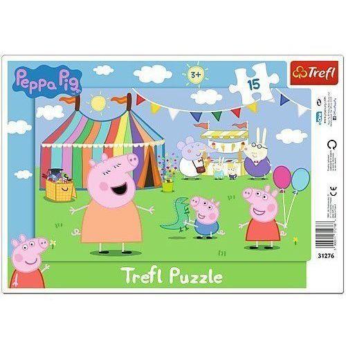 Puzzle 15 Ramkowe Świnka Peppa W wesołym miasteczku (5900511312768)