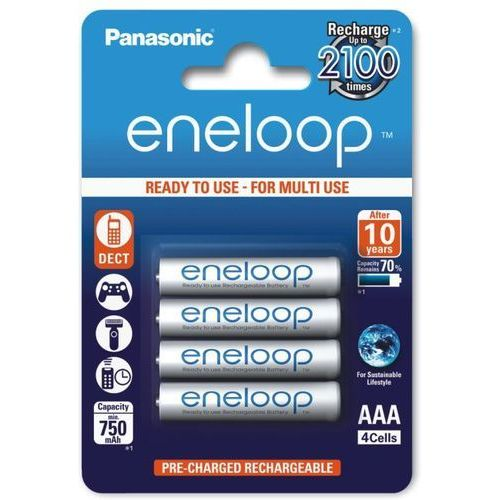 4 x akumulatorki eneloop r03 aaa 800mah bk-4mcce/4be (blister) marki Panasonic