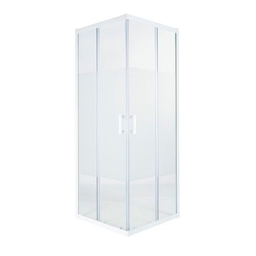 Kabina prysznicowa kwadratowa Cooke&Lewis Onega 90 cm biały/wzór