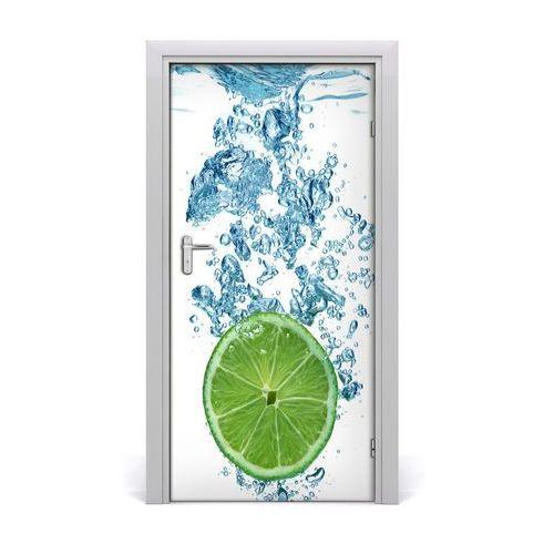 Naklejka na drzwi samoprzylepna Limonka pod wodą