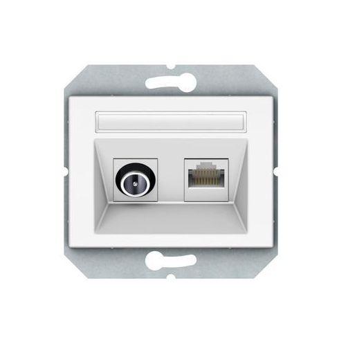 Gniazdo multimedialne TVL/KLRJ45-15e2-02B biały DPM (4779101630800)