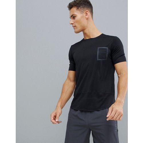 ASOS 4505 training longline t-shirt with bonded mesh jersey - Black