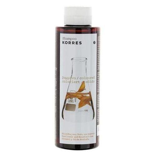 Korres  shampoo sunflower and mountain tea for coloured hair (5203069040474)