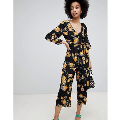 floral print culotte jumpsuit - multi, Miss selfridge