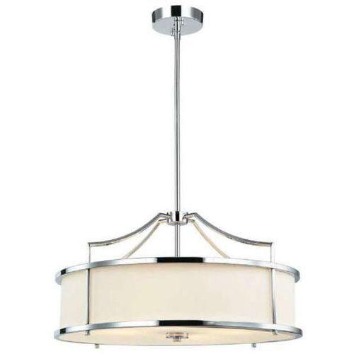 Orlicki design Lampa wisząca stanza cromo m okrągła oprawa w stylu klasycznym abażurowa kremowa chrom
