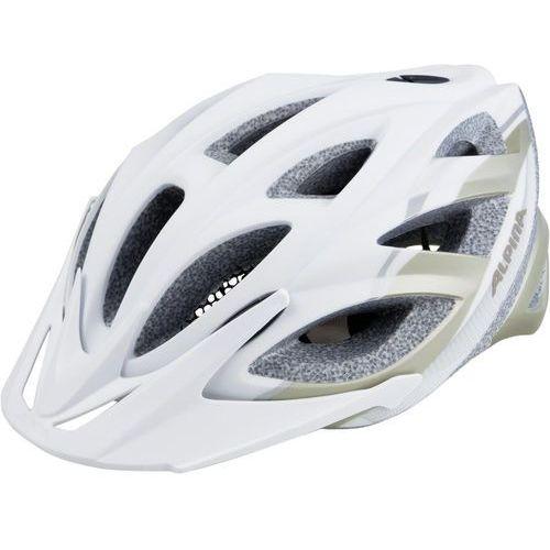 Alpina seheos l.e. kask rowerowy biały/srebrny 51-56cm 2018 kaski rowerowe