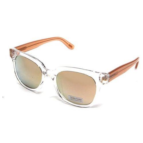 Okulary Słoneczne Tom Ford FT0407D Asian Fit 26C, kolor żółty
