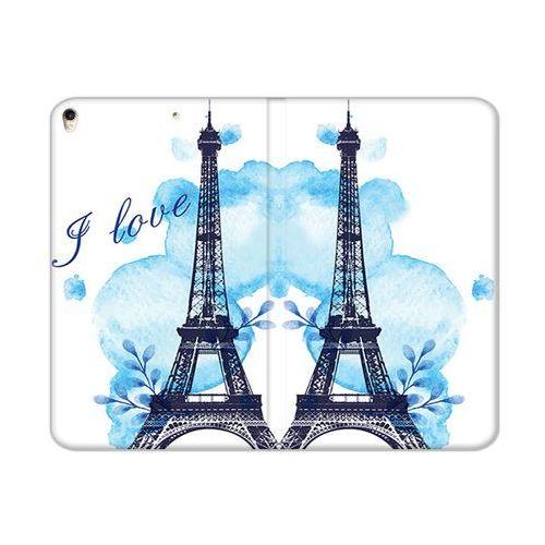 etuo Flex Book Fantastic - Apple iPad Pro 10.5 - etui na tablet Flex Book Fantastic - niebieska wieża eiffla