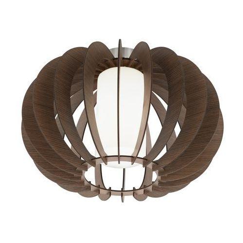 Plafon Eglo Stellato 3 95589 lampa sufitowa 1x60W E27 nikiel mat / brąz, kolor brązowy