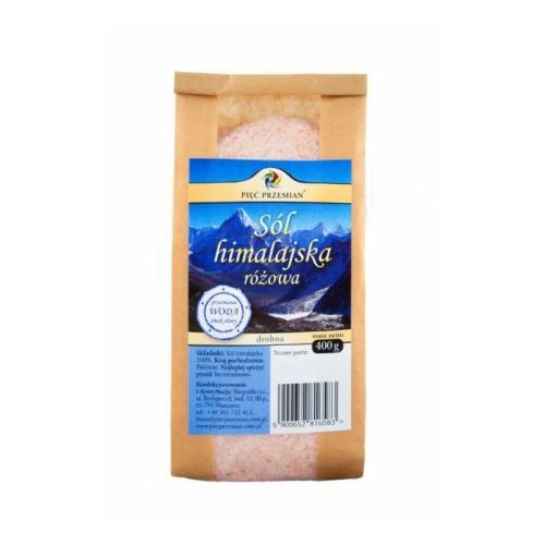 Sól himalajska różowa drobna 400 g Pięć Przemian