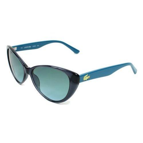 Lacoste Okulary przeciwsłoneczne damskie l3602s niebieskie