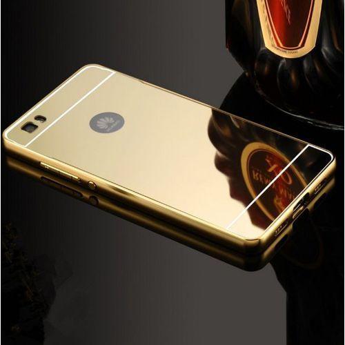 Obudowa Bumper Metal Mirror Case Huawei P8 Lite - Złota - Złoty