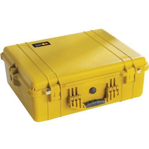 Peli Box 1600 pudełko z tworzywa sztucznego, z wkładką z pianki, żółty, 1600