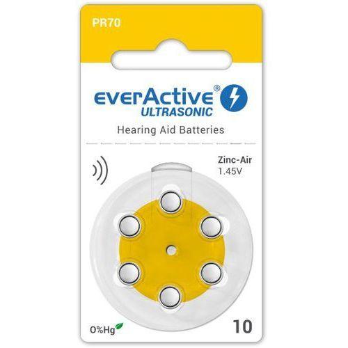 Everactive 6 x baterie do aparatów słuchowych ultrasonic 10