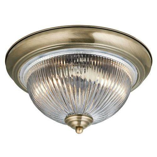 Searchlight 4370 flush plafon szklany antyczny mosiądz