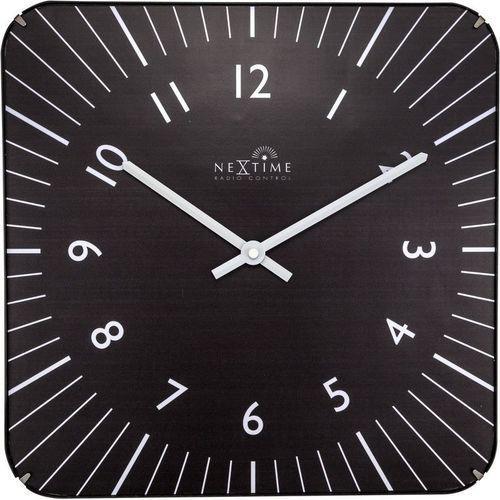 NeXtime - Zegar ścienny Alex RC - czarny