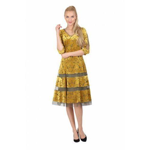 Sukienka Model M 826 Yellow, kolor żółty