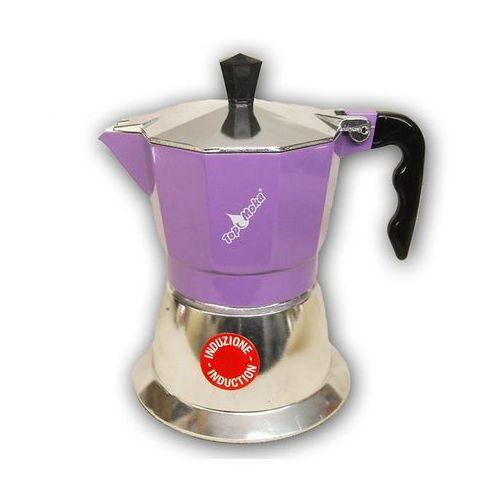 Kawiarka na indukcję top 2 filiżanki - srebrno fioletowa marki Top moka