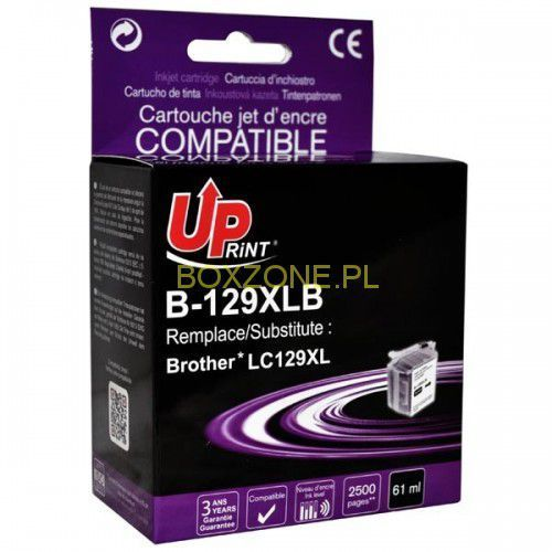 Uprint  kompatybilny ink z lc-129xlbk, black, 2600s, b-129xlb, dla brother mfc j6920dw
