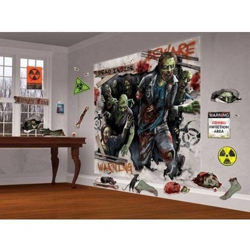 Dekoracja ścienna Zombie - 32 elem.