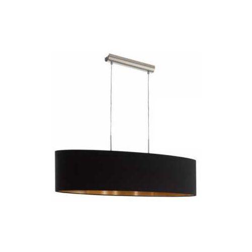 Lampa wisząca Eglo Pasteri 94916 z abażurem 2x60W E27 czarny/miedź (9002759949167)