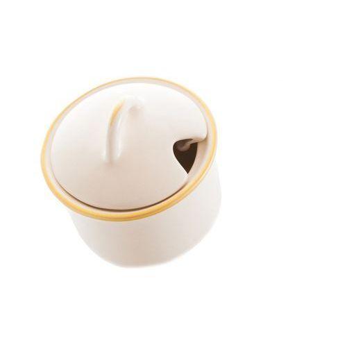 Mieroszów Cukiernica kremowa ceramika na prezent