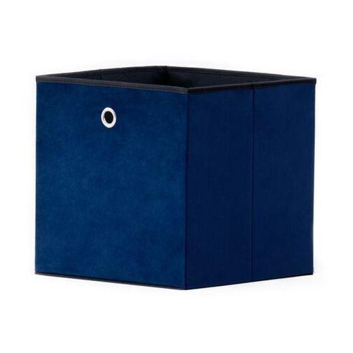 Kolorowe pudło velvet do regałów max granatowe marki Fontini