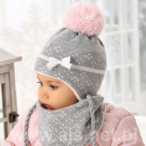 Ajs Komplet 38-401 czapka+chustka rozmiar: uniwersalny, kolor: wielokolorowy, ajs