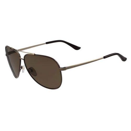 Okulary Słoneczne Salvatore Ferragamo SF 131SGP Polarized 211, kolor żółty