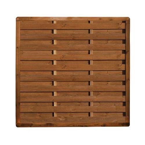 Płot szczelny 180x180 cm drewniany SUNSET WERTH-HOLZ
