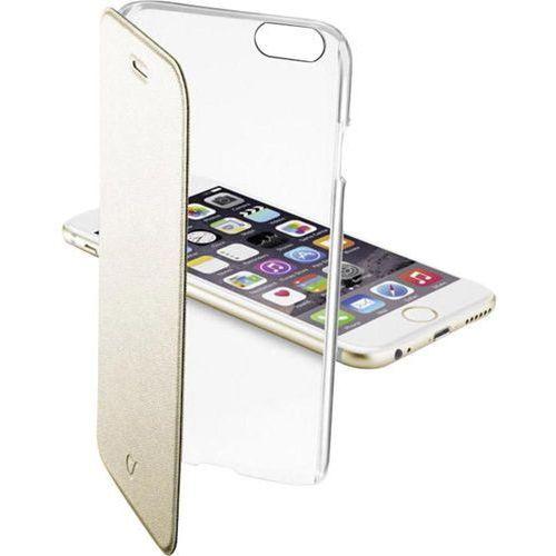 Cellular Line Etui Clear Book do Apple iPhone 6, Złote (CCLEARBOOKIPH647H) Darmowy odbiór w 19 miastach! (Futerał telefoniczny)