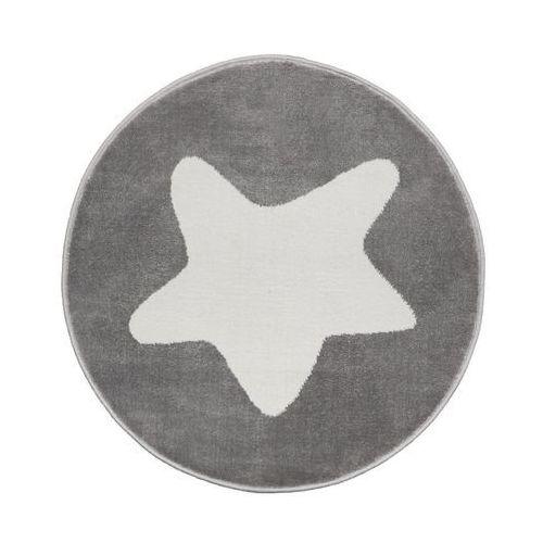 Dywan dziecięcy GWIAZDKA szary okrągły śr. 80 cm (5901760094825)