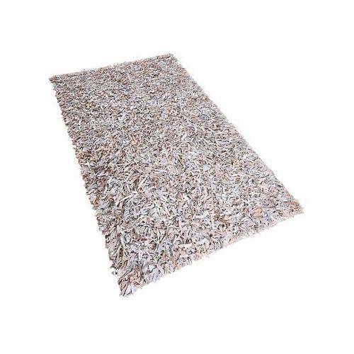 Dywan jasnobeżowy - Shaggy - skórzany - mata - 80x150 cm - MUT (4260580924059)