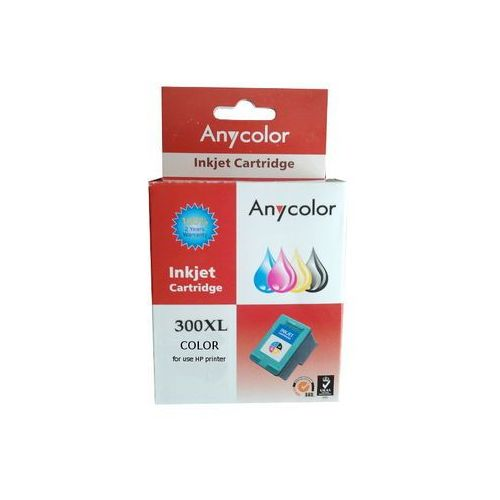 Zastępczy atrament hp 300xl [cc644ee] color 100% nowy marki Anycolor