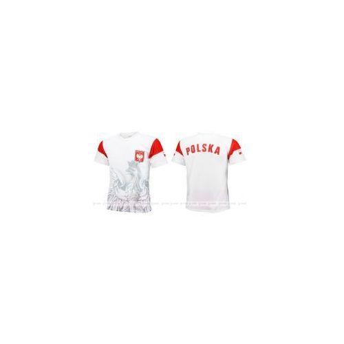 Bs sport Orzeł polska - sportowa koszulka kibica - biała