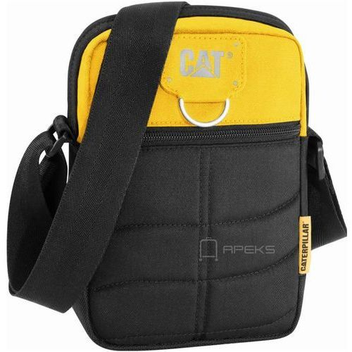 Caterpillar rodney saszetka męska na ramię / torba na tablet 5'' cat / czarno - żółta - black / yellow (5711013045968)
