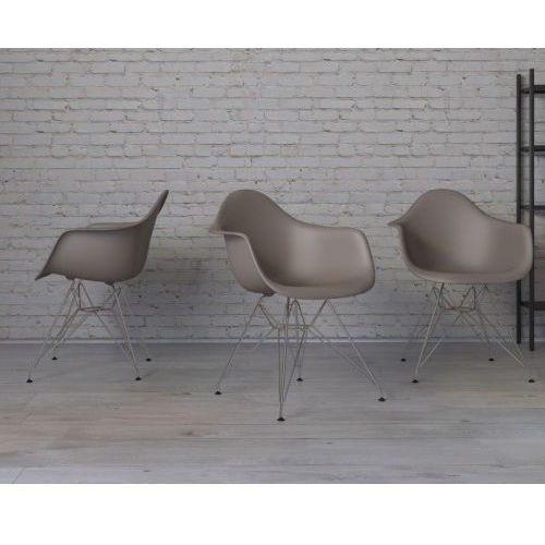 D2.design Krzesło p018 pp inspirowane dar - mild grey (5902385717373)