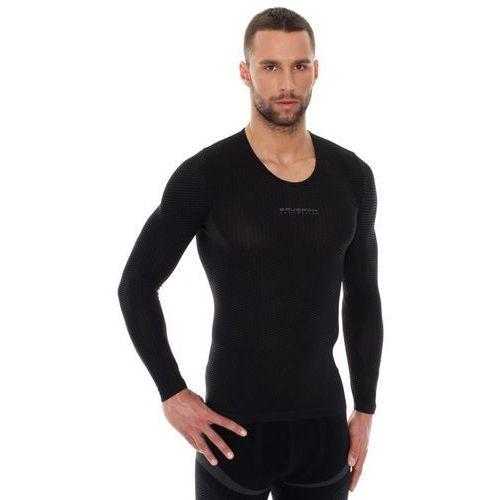 Koszulka unisex typu base layer z długim rękawem L Czarny