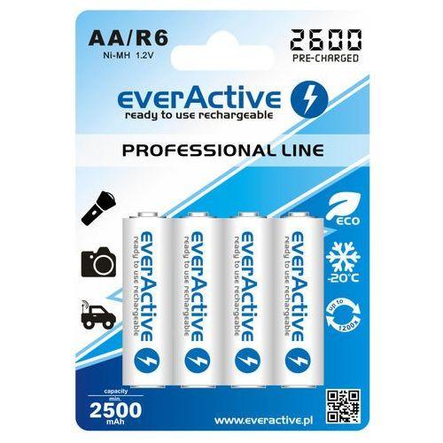 4x akumulatorki everActive R6/AA Ni-MH 2600 mAh ready to use z kategorii Akumulatorki