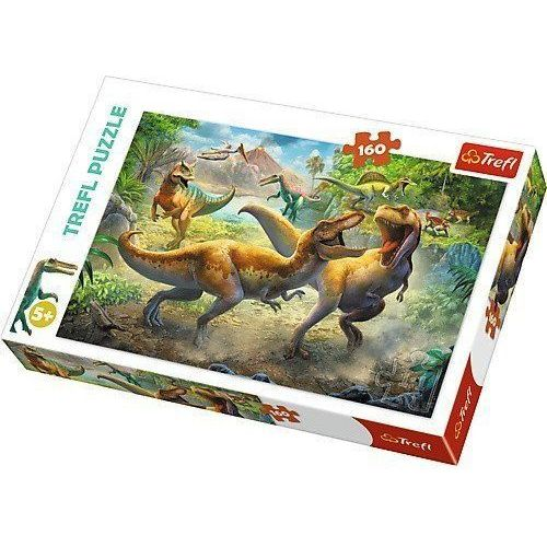 Trefl Puzzle walczące tyranozaur 160 (5900511153606)