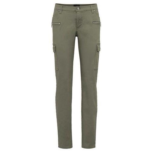 c817dcfc3c9e8e Spodnie bojówki SKINNY bonprix oliwkowy , bonprix - Porównywarka w ...