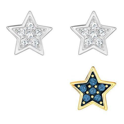 Swarovski Crystal Wishes Star Pierced Earring Set, Blue White - produkt z kategorii- Kolczyki