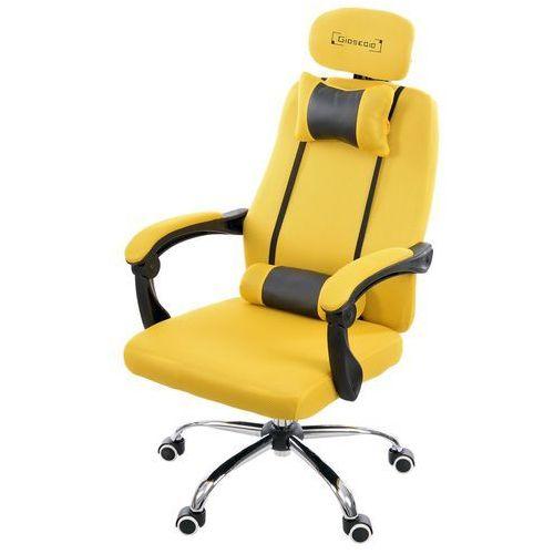 Giosedio Fotel biurowy żółty, model gpx013 (5902751542134)